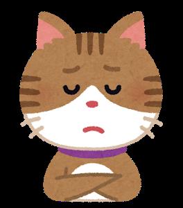 悩めるネコ